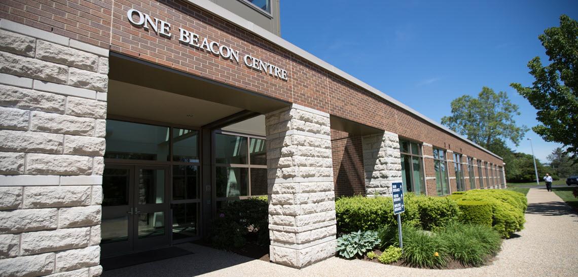 Beacon Mutual Main Entrance - Reopening During Pandemic